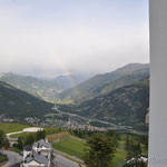 Blick aus dem Hotel in Sauze d'Oulx