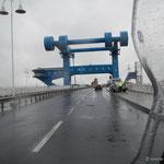 die Brücke in Wolgast, ab hier sind wir wieder auf dem Festland