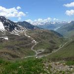 Blick in das Bastan-Tal vom Col du Tourmalet