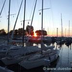 Sonnenuntergang in Bregenz am Bodensee
