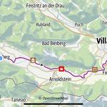 Radtour auf dem Gailtalradweg - hin per Bus/zurück per Rad