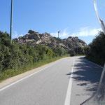 am Capo d'Orso, ein Granitstein in der Form eines Bären
