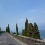 die westliche Uferstasse (Gardesana Occidentale)