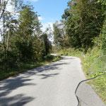 Auffahrt zur slowenischen Grenzkammstrasse