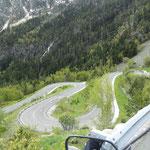 die Ost-Rampe vom Col de Bonaigua