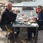 Letztes Frühstück auf Korsika im Hotel Abbartello