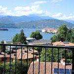 Blick vom Hotel in Stresa am Lago Maggiore