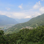 der Blick ins Aostatal