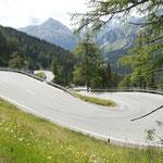 Auffahrt zum Passo del Maloja
