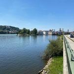 Passau mit dem Zusammenfluß von Inn und Donau
