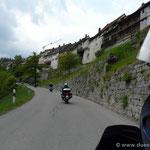 Anfahrt auf Mühlheim a.d. Donau