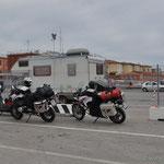 bereits im Fährhafen von Livorno