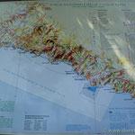 die Cinque Terre Karte mit den fünf berühmten Dörfern