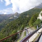 über den Plöckenpass geht es nach Italien