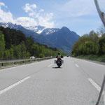 bereits in der Schweiz auf dem Weg nach Süden