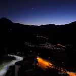 Nachtblick auf Oulx