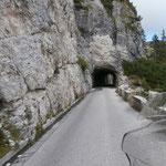 Auffahrt zum Mangart