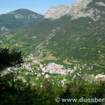 14. Tag Colmars, Ansicht von der Westrampe des Col des Champs
