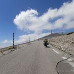 Aufstieg zum Mount Ventoux