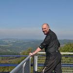 am Pumpenspeicherwerk in Vianden mit einer tollen Aussicht auf Luxemburg