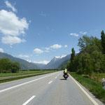 bereits in der Schweiz Richtung Kandersteg