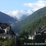 8. Tag Erwachen in Bagneres-de-Luchon bei schönstem Wetter