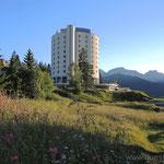 Blick auf unser Hotel Torres in Sauze d'Oulx