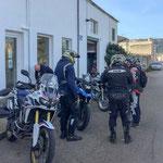 Übernahme der Motorräder