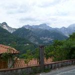 auf dem Weg in die Alpi Apuane (in die Marmorregion)