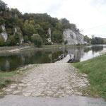 die 1. Gierseilfähre am Kloster Weltenburg