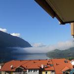der Blick aus unserem Hotelzimmer am Morgen
