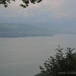 Am lac du Bourget mit Aix-les-Bains im Hintergrund