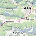 Radtour Tarvis-Villach - hin per Bus/Zurück per Rad