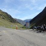 nach dem Bielsa Tunnel auf der französischen Seite der Pyrenäen