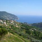 an der Ligurischen Küste angekommen
