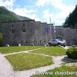Aufstieg zum Predl-Paß Festung Kluze