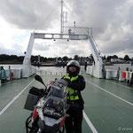 auf der Fähre von Stahlbrode nach Glewitz auf Rügen