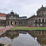 der Zwinger in Dresden, eines der bekanntesten Barockbauwerke in Deutschland