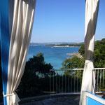 Blick vom Hotel auf die Adria