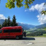 Blick ins Pinzgau vom Pass Thun
