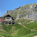 die Bad Kissinger Hütte (nach 3 Stunden Bergauf/Bergab)