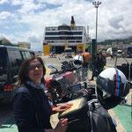warten auf das Einschiffen in Bastia