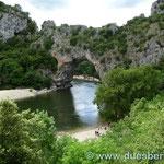 die Pont d'Arc an der Ardeche