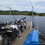 Auf der 1. Überquerung vom Moldaustausee in West-Ost Richtung