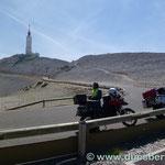 die Westrampe vom Mont Ventoux