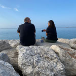 noch ein Kaffee vor der Abfahrt zum Gardasee
