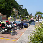 nach einer längeren Fahrt am Gardasee angekommen