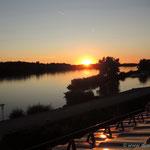 Au an der Donau (Blick vom Hotelzimmer)