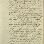 Stettin, St. Nikolai: 1769 verfasster Brief von Ernst Marx, der nach Migends Tod (1767) zunächst allein auftrat, S. 2