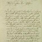 Stettin, St. Nikolai: 1769 verfasster Brief von Ernst Marx, der nach Migends Tod (1767) zunächst allein auftrat, S. 1